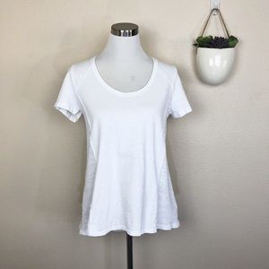 •T.LA• Anthro White Cotton Short Sleeve Swing Tee